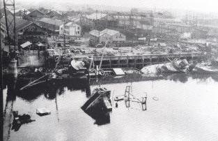 destruction du port de nantes par les allemands le 11 aout 44